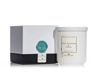 Living Pure Natural Aqua Blossom & Coral Soy Candle