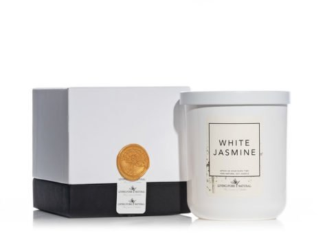 Living Pure Natural White Jasmine Soy Candle