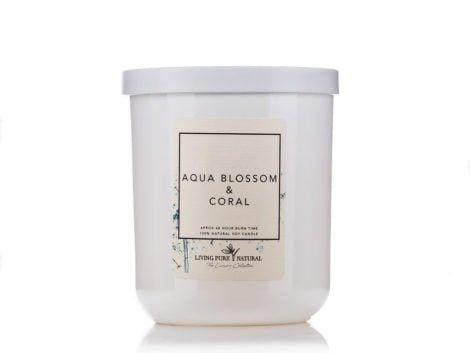 Living Pure Natural Aqua Blossom & Coral Soy Candle